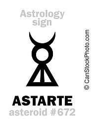 小行星, astrology:, astarte