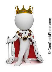 小, 國王, 3d, -, 人們