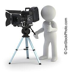 小, 攝影師, 3d, -, 人們