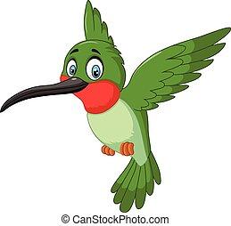 小, 漂亮, 卡通, 鳥