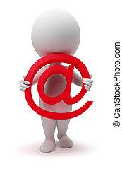 小, 3d, -, 電子郵件, 人們