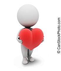 小, people-heart, 3d