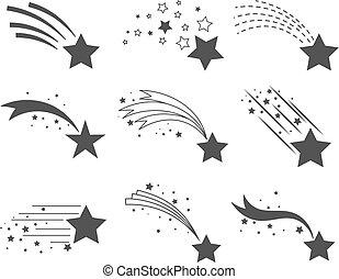 尾巴, 星, 射擊, 圖象