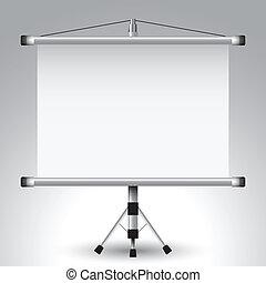 屏幕, 放映機, 滾柱