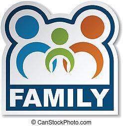 屠夫, 矢量, 加入, 家庭, 人們