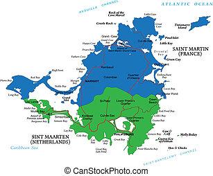 島, 加勒比海, 聖徒, 馬丁