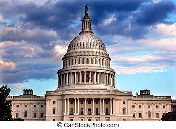 州議會大廈, 國會, 華盛頓特區, 我們, 圓屋頂, 房子