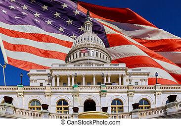 州議會大廈, 我們, 美國人, dc, 華盛頓疲弱