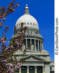 州議會大廈, 春天, -, 財產, 公眾, 愛達荷