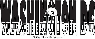 州議會大廈, 正文, 華盛頓特區, 插圖, outline