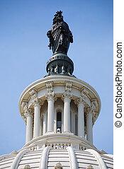 州議會大廈, 自由, 在上方, 華盛頓特區, 雕像, 小山