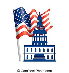 州議會大廈, 被隔离, 美國, 設計, 矢量