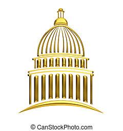 州議會大廈, 黃金, 建築物