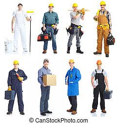工人, 人們。, 承包商