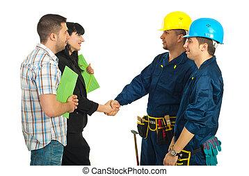 工人, 協議, 家庭, 隊