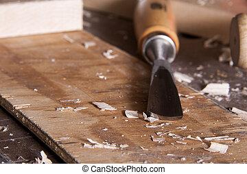 工作台, 鑿子, 雕刻