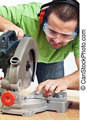 工作, 力量工具, 木匠, 木匠, 或者