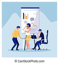 工作, 友好, 辦公室, 協調, 隊, 人們, 組, 商業辦公室
