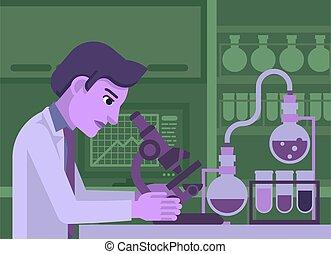 工作, 實驗室, 科學家
