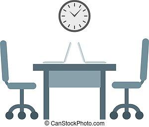 工作, 矢量, illustration., 時間