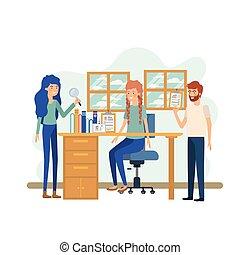 工作, 組, 辦公室人們
