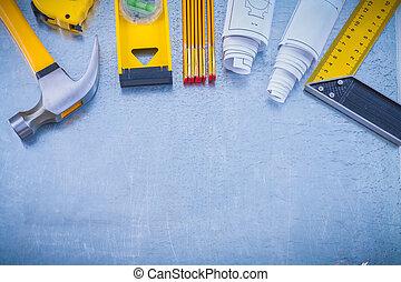 工作, 背景, 工業, 工具, 集合, 金屬, 大
