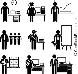工作, 辦公室, 職業, 職業