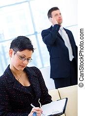 工作, businesspeople, 辦公室