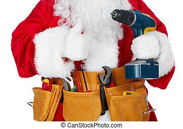 工具, 克勞斯, belt., 聖誕老人