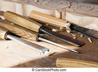 工具, 木頭