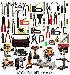 工具, 背景, 被隔离, 白色