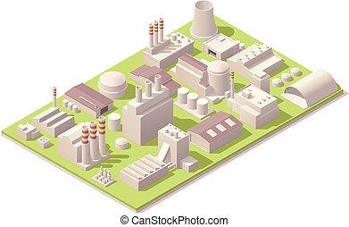 工廠, 建筑物, 等量