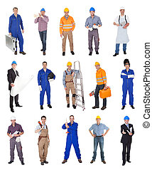 工業的工人, 建設