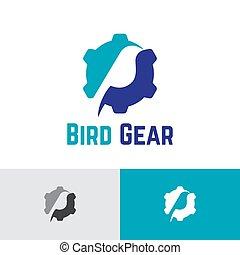工業, 標識語, 樣板, 鳥, 齒輪, 事務