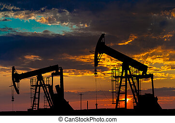 工業, 油, equipment., pumps.