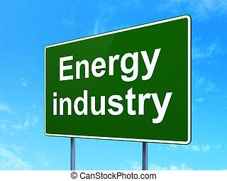 工業, manufacuring, 簽署, 路, 背景, 能量, concept: