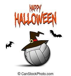 巫婆帽子, 球, hallowen, 愉快, 排球