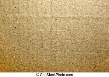 布朗, 充分的框架, 背景。, textured, 紙板, 摘要