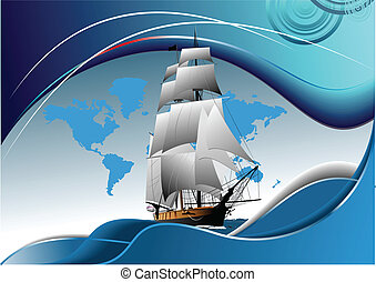 帆船, 老, 小冊子, 覆蓋