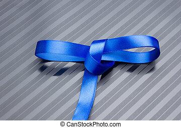 帶子, 裝飾, 禮物, 藍色