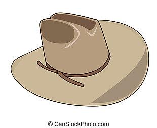 帽子, 插圖, 牛仔