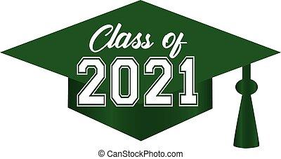 帽子, 綠色, 畢業, 2021, 類別