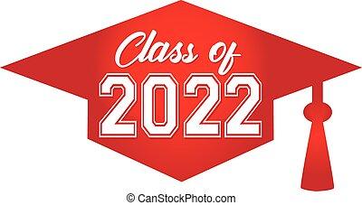 帽子, 2022, 畢業, 紅色, 類別