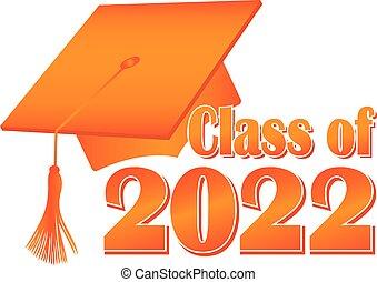 帽子, 2022, 畢業, 類別, 橙