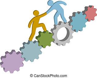 幫助, 人們, 解決, 技術, 發現, 3d