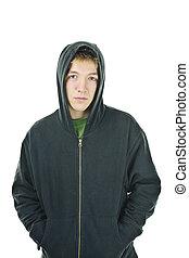 年輕, hoodie, 人
