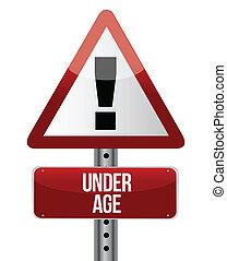 年齡, 簽署, 交通, 路, 在下面