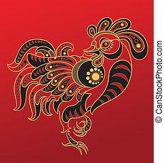年, 漢語, horoscope., 公雞