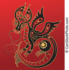 年, 漢語, horoscope., 龍