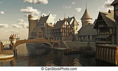 幻想, 或者, 中世紀, 船塢